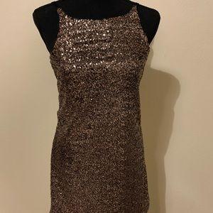 GB Gianni Bini mini sequin gold dress size XS
